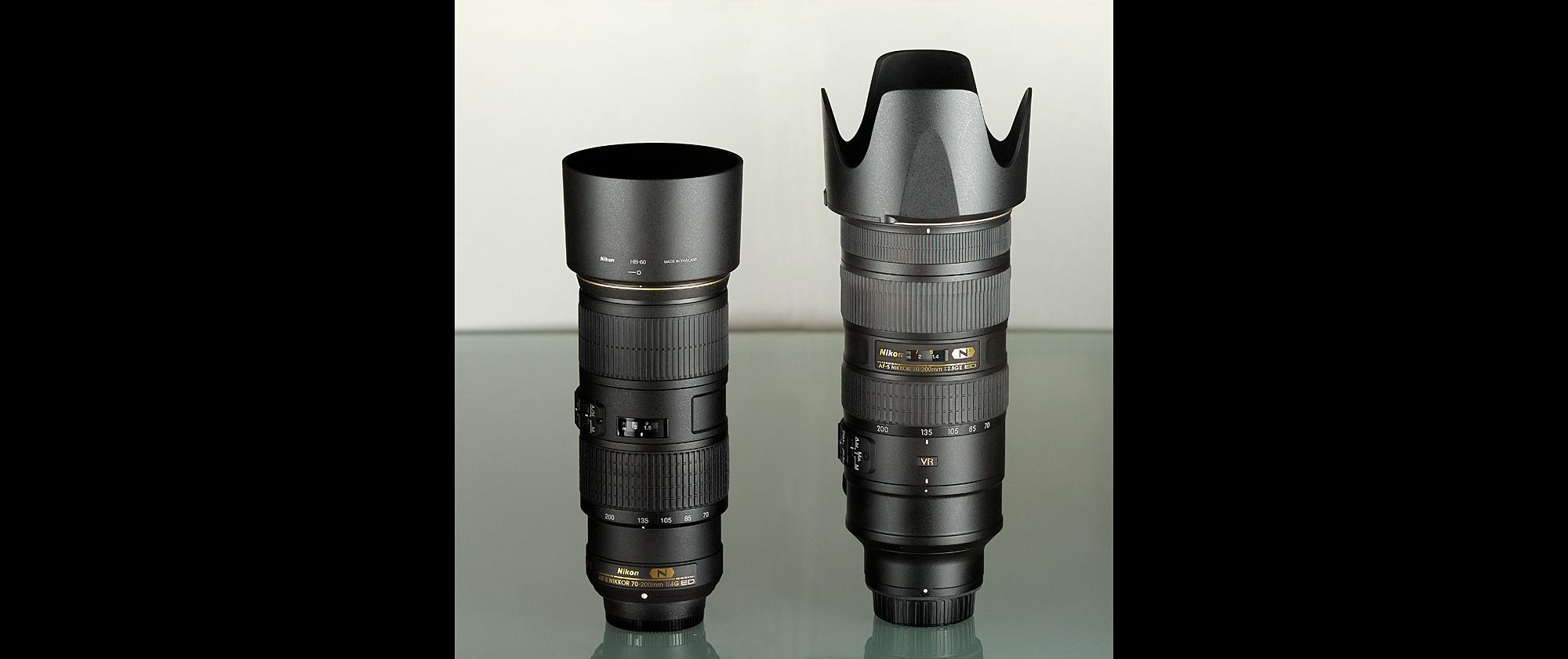 The Nikon 70-200 f/4G ED VR and the Nikon 70-200 f/2.8G ED VR