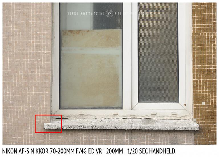 Nikon AF-S Nikkor 70-200mm f/4G ED VR | Stabilisation Test | 200mm | 1/20 sec | Full Image