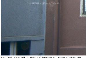 Zeiss 18mm Distagon T f/3.5 | Corner | Brightened | f/3.5
