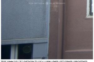 Zeiss 18mm Distagon T f/3.5 | Corner | Brightened | f/5.6