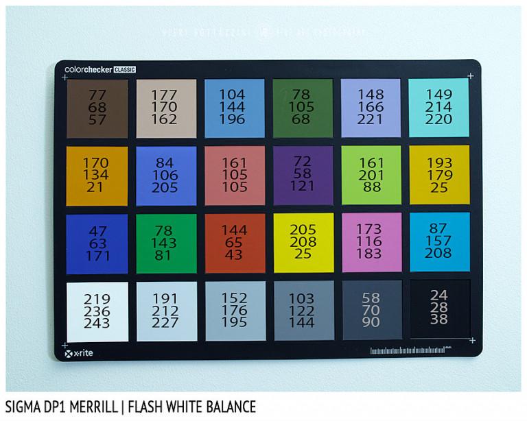 Sigma DP1 Merrill, FLASH White Balance