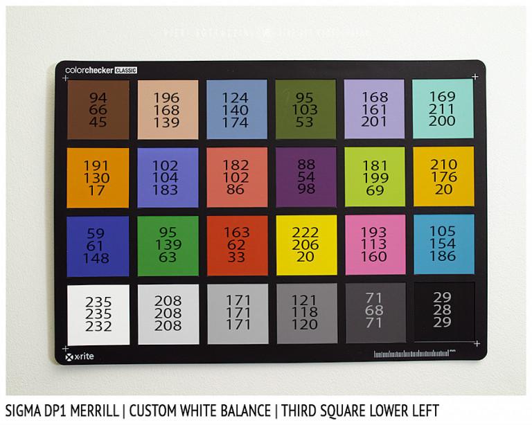 Sigma DP1 Merrill, CUSTOM White Balance