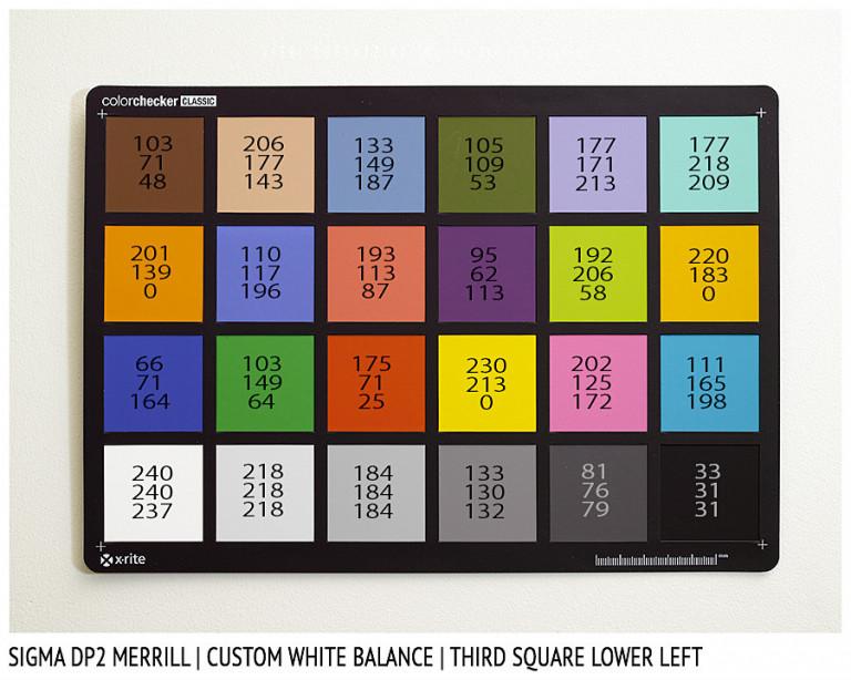 Sigma DP2 Merrill, CUSTOM White Balance
