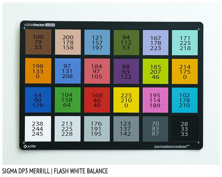 Sigma DP3 Merrill, FLASH White Balance