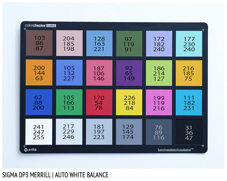 Sigma DP3 Merrill, AUTO White Balance