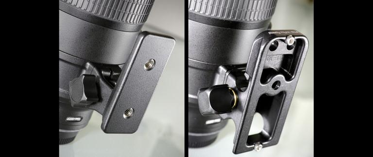 Nikon's original foot vs. RRS foot on the Nikkor 70-200mm f/2.8