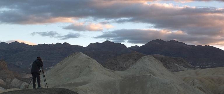 Vieri at work in Death Valley