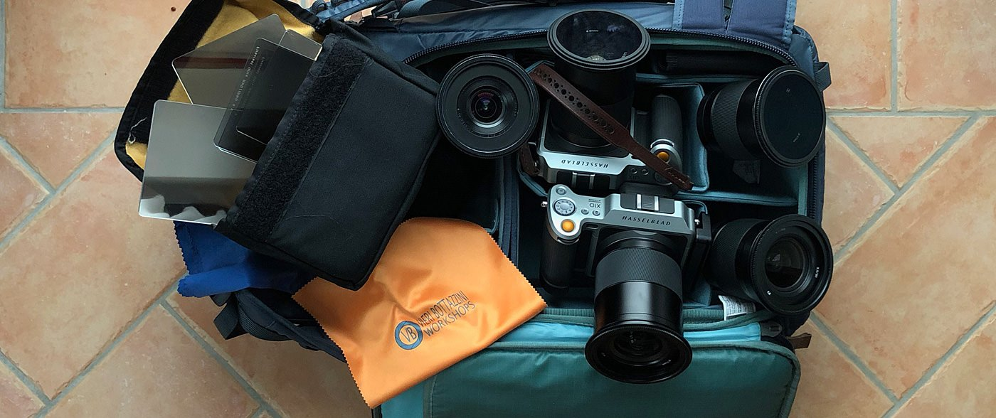 My camera bag in 2019: Hasselblad X1D, lenses and Formatt-Hitech Firecrest Ultra filters!