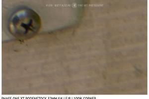 Phase One XT Rodenstock 32mm f/4 | Close Focus | Corner | f/8