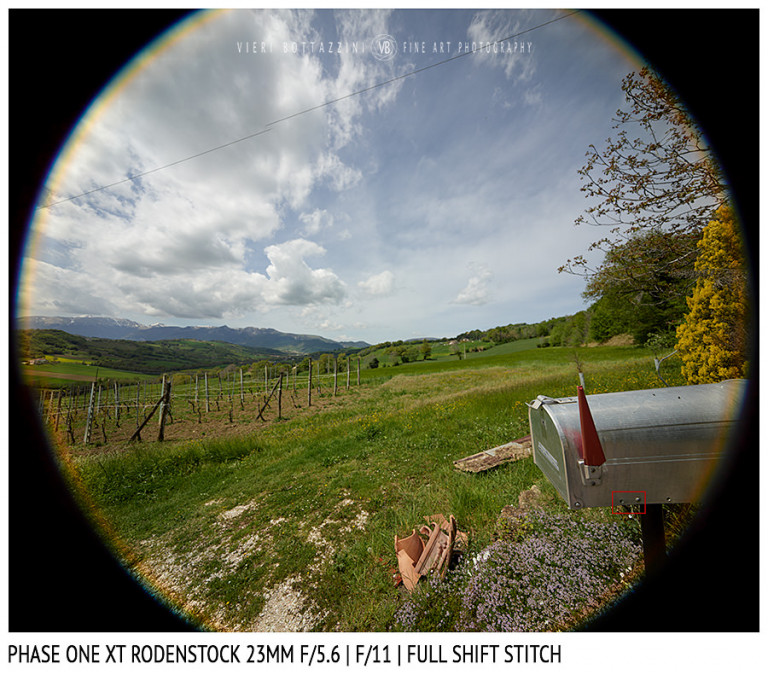 Phase One XT Rodenstock 23mm f/5.6 | Close Focus | Full shift stitch | Full Image | f/11
