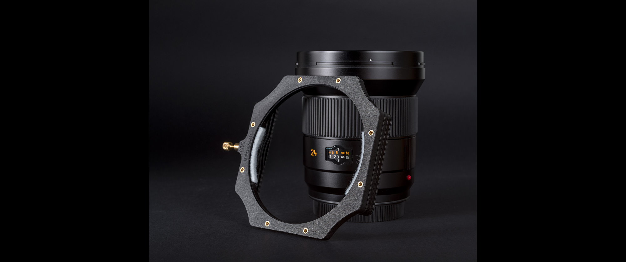 Leica Super-Elmar-S 24mm f/3.5 with modified filter holder