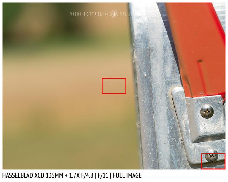 Hasselblad XCD 135mm + 1.7x | Close Focus | Full Image | f/11