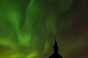 Northern Lights over Budakirkja (Iceland, 2019)