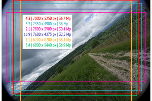 Voigtlander 15mm Super-Wide Heliar f/4.5 v. III | Infinity | Full Image | Overlay Crop | f/11