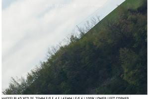 Hasselblad XCD 35-75mm | 65mm | Infinity | Lower Left Corner | f/5.6