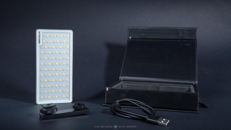 The Nitecore SCL10 2-in-1 Smart Camera Light