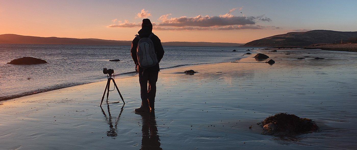 Vieri at work on the Isle of Arran